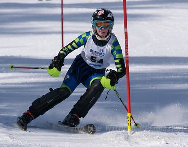 Becca Drohen of Blandford skis in the U16 Slalom race on February 13, 2016.
