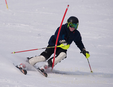 Jack Masciadrelli foreruns at U19 Race at Blandford Ski Area on January 30, 2016