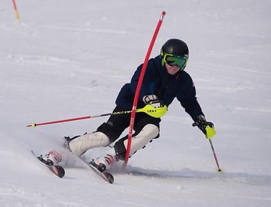 Jack Masciadrelli foreruns at U19 Race at Blandford Ski Area on January 30, 2016