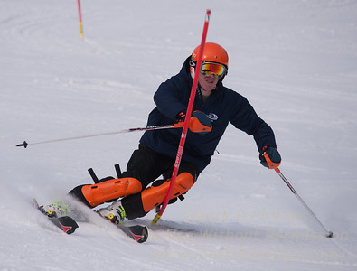 Austin Herman foreruns at U19 Race at Blandford Ski Area on January 30, 2016