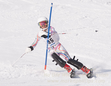 Alli Zera at U19 Race at Blandford Ski Area on January 30, 2016