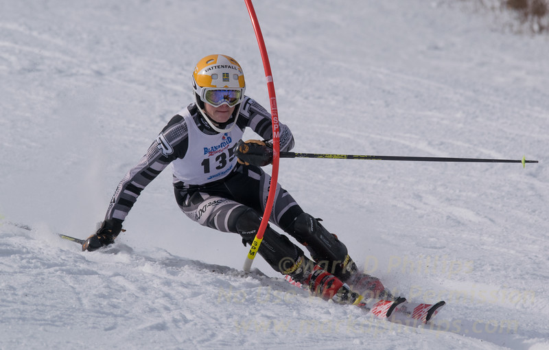 Jared Chase at U19 Race at Blandford Ski Area on January 30, 2016
