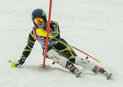 Jack Alberici of Blandford skis at the U19 race at Bousquet Ski Area on January 31, 2016.