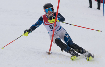 Hayman, James skis at the U19 race at Bousquet Ski Area on January 31, 2016.
