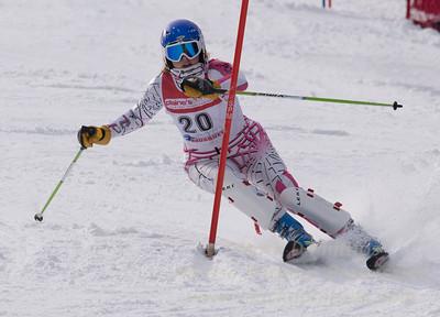 Diamond, Meghan skis at the U19 race at Bousquet Ski Area on January 31, 2016.