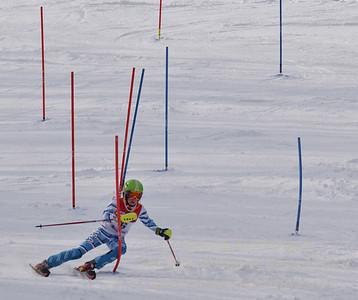 Ella King of Bousquet skis at the U19 race at Bousquet Ski Area on January 31, 2016.
