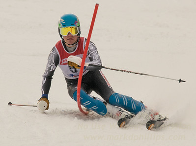 Mooney, Zachary skis at the U19 race at Bousquet Ski Area on January 31, 2016.