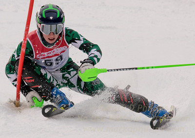 Brown, Lyons skis at the U19 race at Bousquet Ski Area on January 31, 2016.