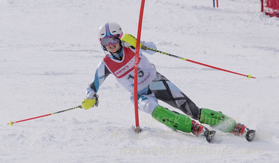 Colman, Allegra skis at the U19 race at Bousquet Ski Area on January 31, 2016.