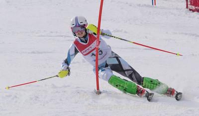 Colman, Allegra skis at the U19 race at Bousquet Ski Area on January 31, 2016.