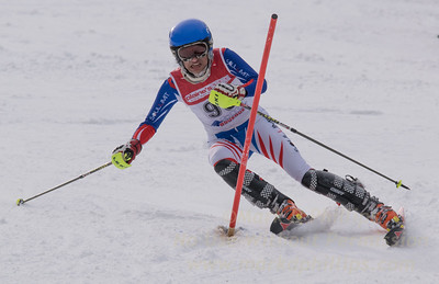 of Bousquet skis at the U19 race at Bousquet Ski Area on January 31, 2016.