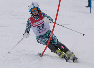 Meleshkewich, Liliana skis at the U19 race at Bousquet Ski Area on January 31, 2016.