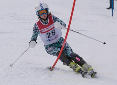 Meleshkewich, Liliana skis at the U19 race at Bousquet Ski Area on January 31, 2016.