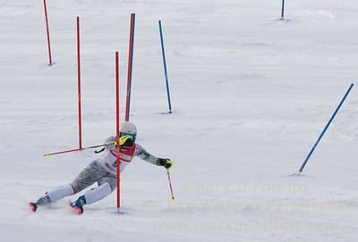 Jillian Scherpa of Blandford skis at the U19 race at Bousquet Ski Area on January 31, 2016.