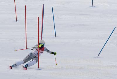 Jillian Scherpa of Blandford skis at the U19 race at Bousquet Ski Area on January 31, 2016.