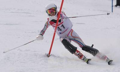 Zera, Allison skis at the U19 race at Bousquet Ski Area on January 31, 2016.