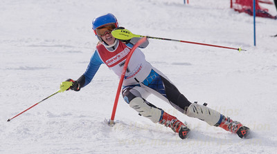Kronenberg, Isabel skis at the U19 race at Bousquet Ski Area on January 31, 2016.