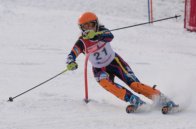 Howley, Kaitlyn skis at the U19 race at Bousquet Ski Area on January 31, 2016.