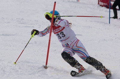 of Bousquet skis at the U19 race at Bousquet Ski Area on January 31, 2016.