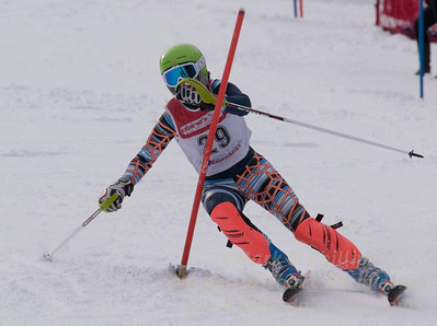 Rezai, Lily skis at the U19 race at Bousquet Ski Area on January 31, 2016.