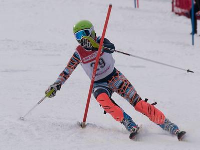 Rezai, Lily skis at the U19 race at Bousquet Ski Area on January 31, 2016.