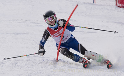 Brush, Emilie skis at the U19 race at Bousquet Ski Area on January 31, 2016.