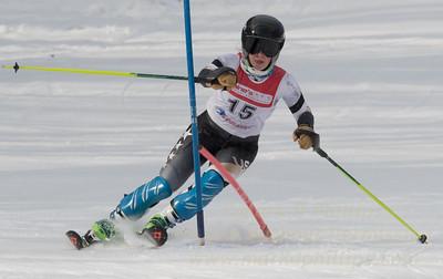 Emilie Brush at Bousquet U19 TriState Slalom Qualifier on January 8, 2017