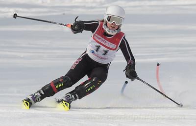 Jennifer Costello at Bousquet U19 TriState Slalom Qualifier on January 8, 2017