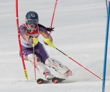 Hannah Hunsaker of Bousquet U19 TriState Slalom Qualifier on January 8, 2017