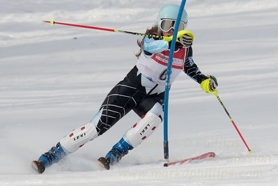 Isabelle Chandler at Bousquet U19 TriState Slalom Qualifier on January 8, 2017