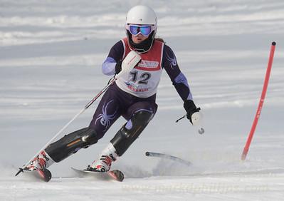 Micaela Bartlett at Bousquet U19 TriState Slalom Qualifier on January 8, 2017