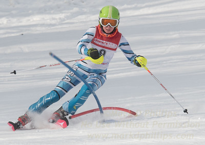 Ella King at Bousquet U19 TriState Slalom Qualifier on January 8, 2017
