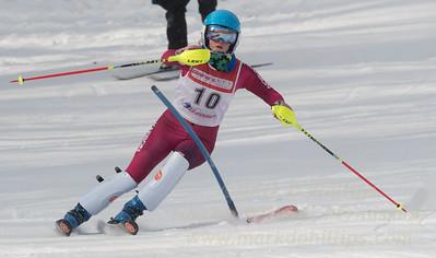 Sydney Murner at Bousquet U19 TriState Slalom Qualifier on January 8, 2017