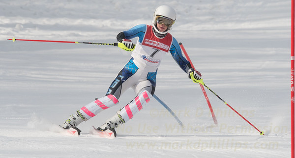 "Grace O""Connor at Bousquet U19 TriState Slalom Qualifier on January 8, 2017"
