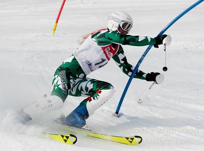 Eva Clough at Bousquet U19 TriState Slalom Qualifier on January 8, 2017