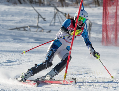 Grace O'Connor of Blandford at U19 race at Bosquet Ski Area on January 7, 2018