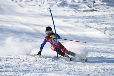 Cameron Ottoson of Blandford at U19 race at Bosquet Ski Area on January 7, 2018