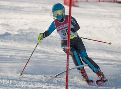 Addison Wakelin of Blandford at U19 race at Bosquet Ski Area on January 7, 2018