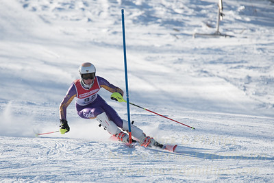 Ryan Schmidt of WCOC at U19 race at Bosquet Ski Area on January 7, 2018