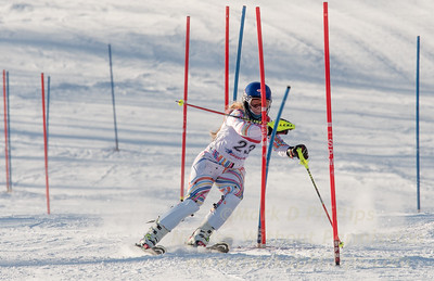 Liza Phillips of Blandford at U19 race at Bosquet Ski Area on January 7, 2018