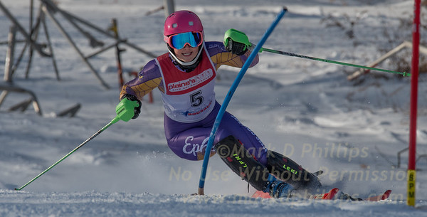 Makena Jones of WCOC at U19 race at Bosquet Ski Area on January 7, 2018