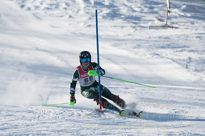 Lyons Brown of BSST at U19 race at Bosquet Ski Area on January 7, 2018