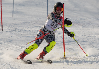 Isabelle Beaudry-Hathaway of Blandford at U19 race at Bosquet Ski Area on January 7, 2018