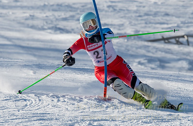 Sophia Carellas of Blandford at U19 race at Bosquet Ski Area on January 7, 2018