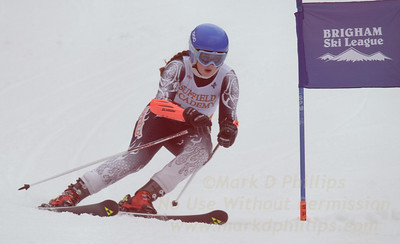 Suffield Academy at the Brigham Ski League GS Championship at Ski Sundown on February 17, 2016