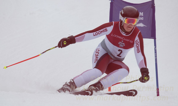 Loomis at the Brigham Ski League GS Championship at Ski Sundown on February 17, 2016