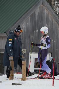 Jackie Koziel at U19 GS race at Jiminy Peak on Sunday, February 5, 2017.