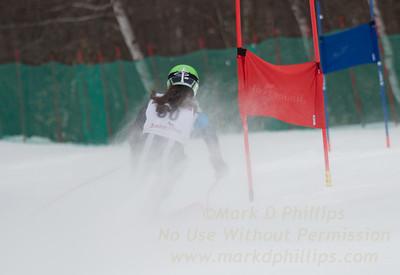 Addison Wakelin at U19 GS race at Jiminy Peak on Sunday, February 5, 2017.
