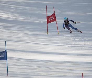 Elise Namnoum of Ethel Walker School races at Sudown Ski area on Wednesday, February 8, 2017, for the Brigham Ski League GS Championships.