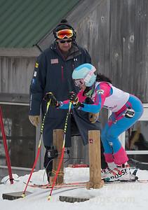 Elise Namnoum at U19 GS race at Jiminy Peak on Sunday, February 5, 2017.